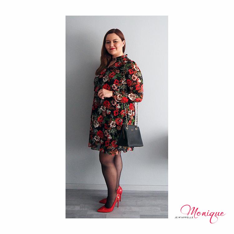 kvetované šaty styling jmpmonique