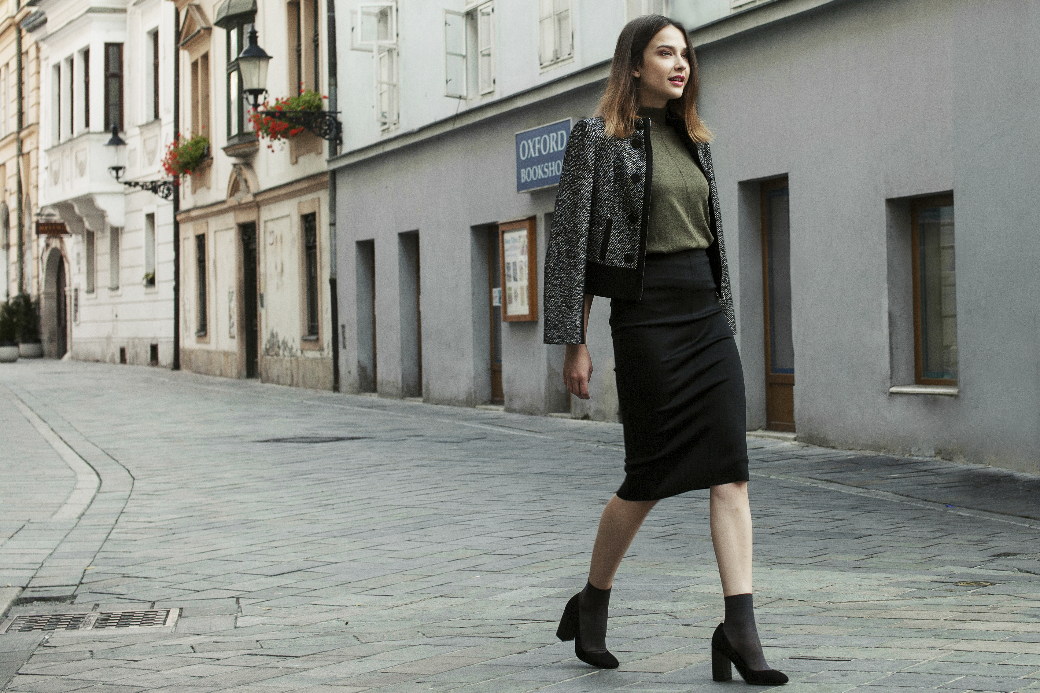 Marks & Spencer jeseň krátky kabát