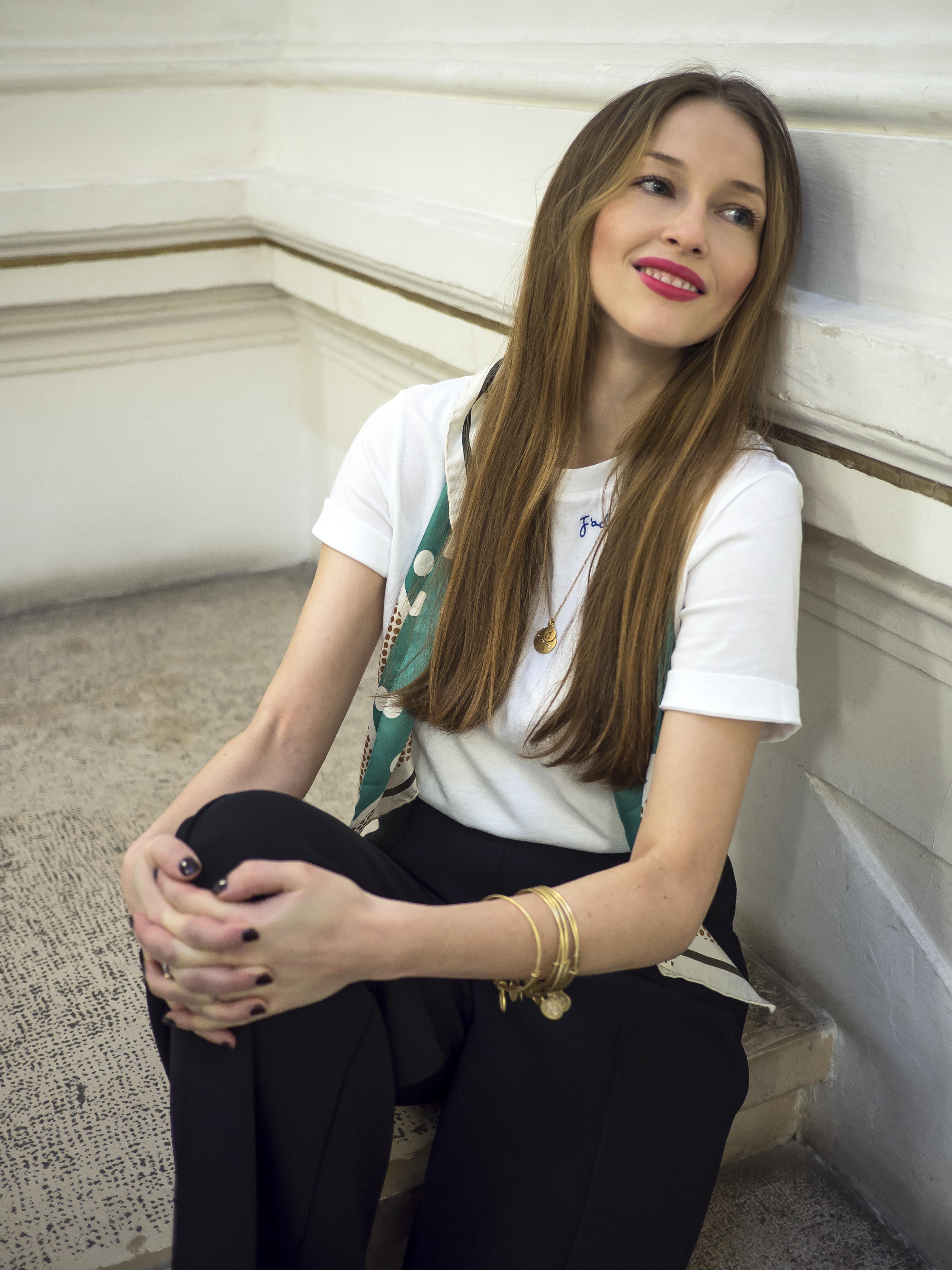 biele tričko H&M