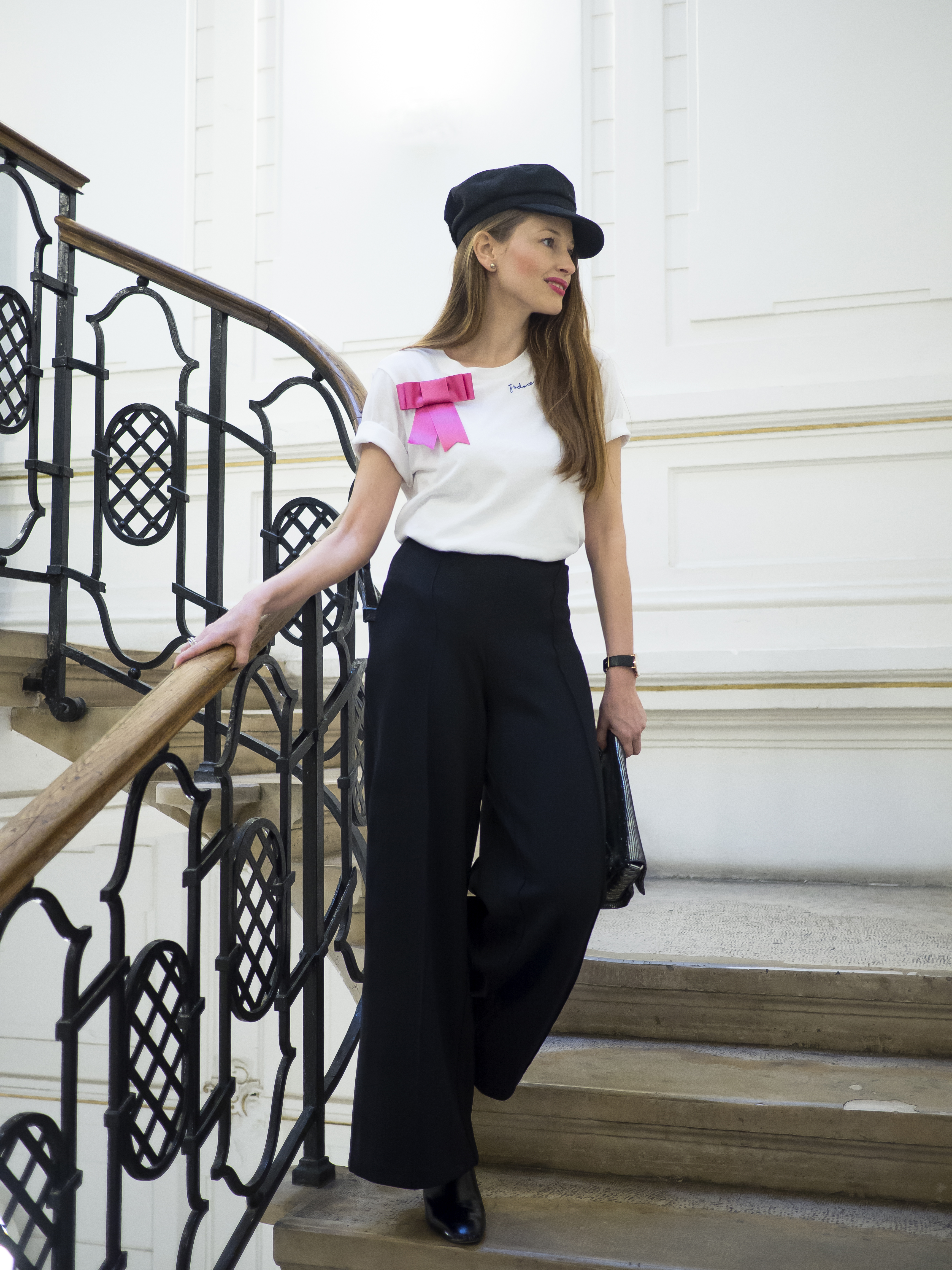 biele tričko s krátkym rukávom H&M