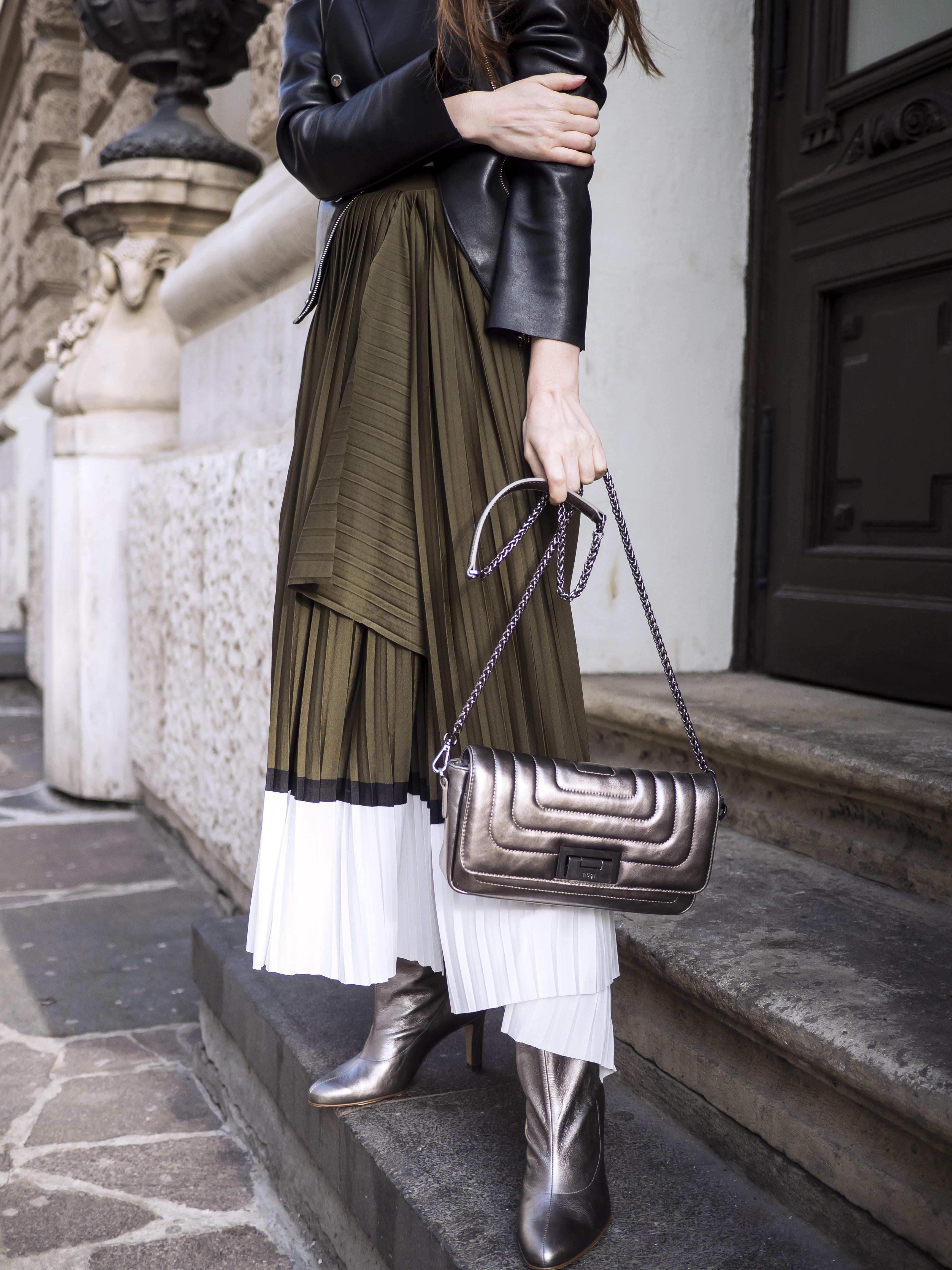 Trendy na jar 2018 - skladaná sukňa