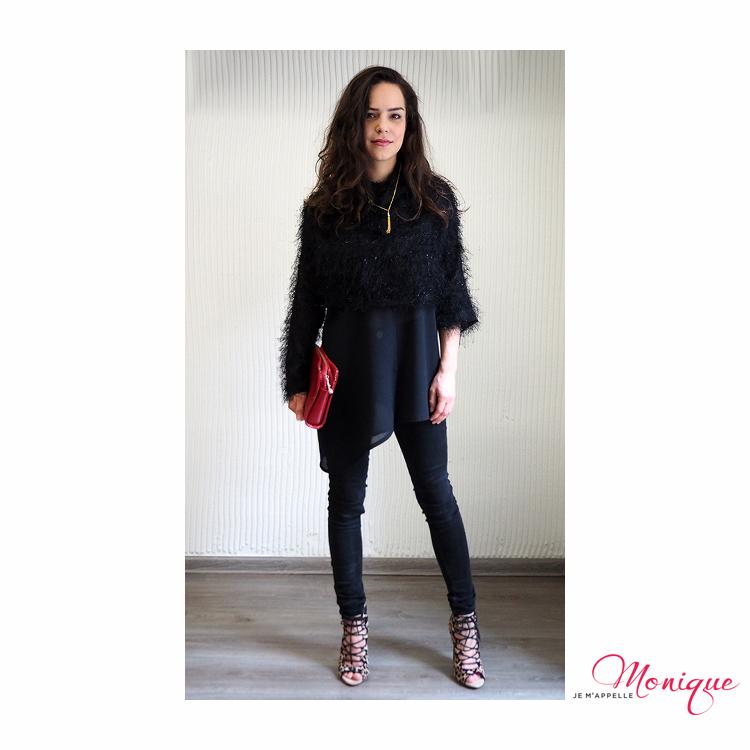 čierny outfit