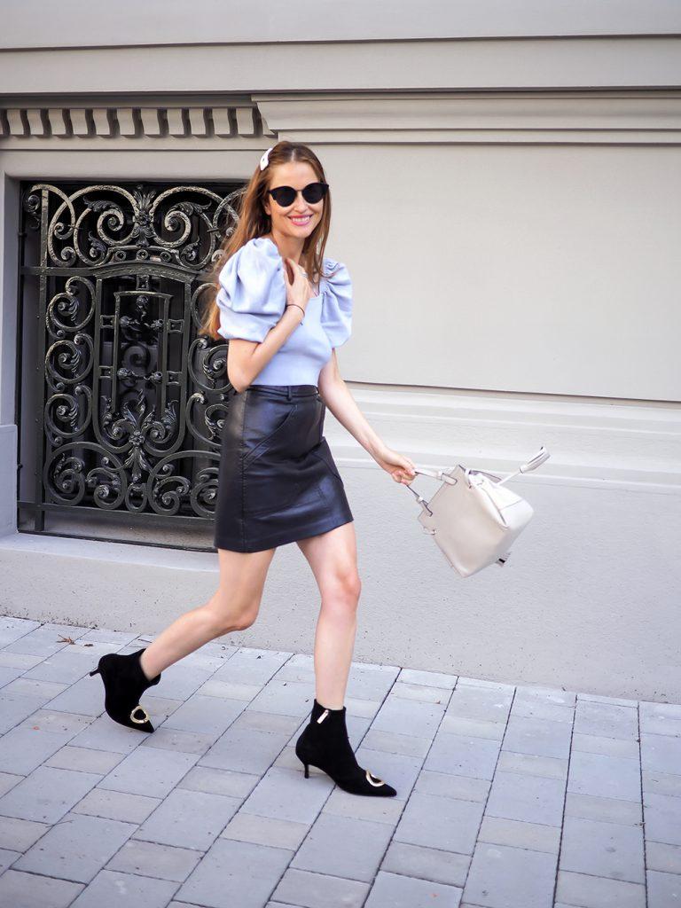 Trendy kožená sukňa 2019